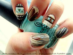 So intricate! I really like how there's an individual design on each nail