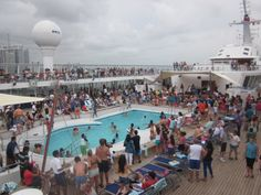 07/01 - Pool area - Sailaway party Norwegian Sky Cruise, Party, Parties