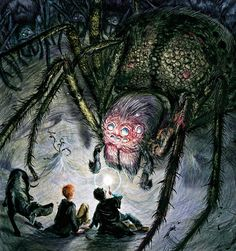 Aragog By Jim Kay, Harry Potter and the Chamber of Secrets illustrated Edition, 2016 Harry Potter Fan Art, Harry Potter Jim Kay, Carte Harry Potter, Images Harry Potter, Harry Potter Drawings, Harry Potter Books, Harry Potter Universal, Harry Potter World, Harry Potter Memes