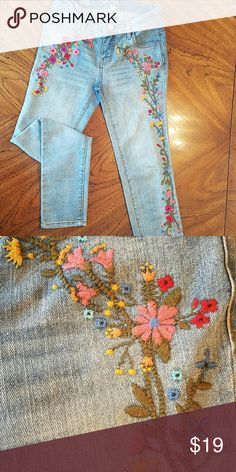 Embroidered Jeans Colorful embroidered Jeans! Bottoms Jeans