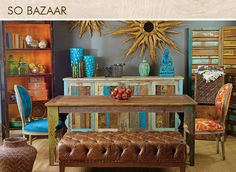 Global bazaar eclectic interior