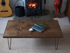 Vintage Industrial Hairpin Leg Coffee Table
