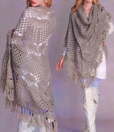 Chic Women Crochet Oversize Shawl- 25 DIY Crochet Shawl Patterns   DIY to Make
