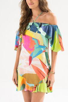.:: FARM RIO ::. Floral Fashion, Fashion Wear, Fashion Dresses, Womens Fashion, Casual Summer Outfits, Summer Dresses, Dress Outfits, Cute Outfits, Bird Dress