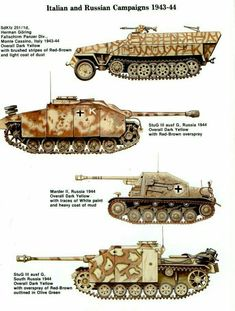 Italy & rusian campaign's armored vehicles