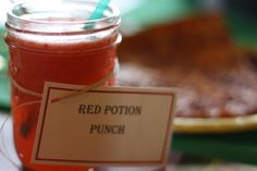 Red Potion Punch - A Legend of Zelda Birthday Party