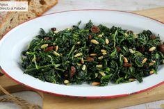 Te enseñamos a preparar de manera sencilla la receta de espinacas a la catalana, ideal para una cena ligera, rápida y saludable Vegetable Side Dishes, Seaweed Salad, Creme, Spinach, Main Dishes, Salads, Favorite Recipes, Healthy Recipes, Vegan