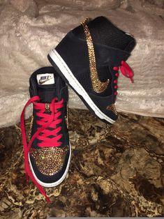 ea25c327bf53 shoes sparkly nikes nike air eshays prom shoes bling shoes bling sneakers  nike dunks wedges custom wedding shoes rhinestone nike dunk ski hi nike  wedge ...