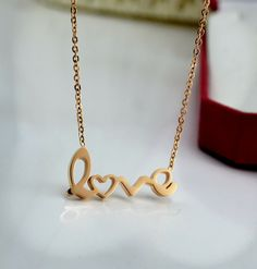 beauty love letter pandant necklace,big discouting at www.costwe.com