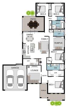 Custom Home in North Shore · Grady Homes Bungalow Floor Plans, House Floor Plans, Free House Plans, Tiny Apartments, Floor Layout, Minecraft Stuff, House Blueprints, Hardwood Floor, Architectural Design House Plans