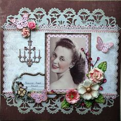 This is my beautiful Aunt in The story behind the photo is in an envelope and attached to the back of the layout where I often put my journalling.she had this glamour shot taken during when her fiance was sent to war. Scrapbooking Layouts Vintage, Scrapbooking 101, Vintage Scrapbook, Wedding Scrapbook, Scrapbook Page Layouts, Baby Scrapbook, Scrapbook Designs, Vintage Cards, Vintage Postcards