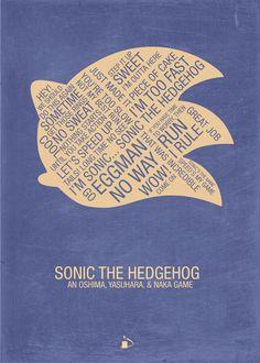 """Sonic the Hedgehog Typography"" by Kody Christian    #Sonic #Sega #typography"
