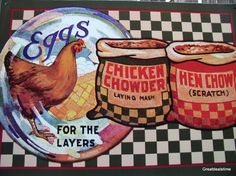 CHICKEN FEED SIGN