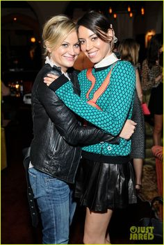 Amy Poehler and Aubrey Plaza. literally my fav people ever