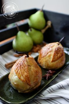 Chocolate and almond stuffed baked pear dumplings with Chinese 5 spice. These sound like they could be amazing... must try!