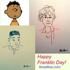 Today( 7/31) is #FranklinDay -  47th Anniversary of the #AfricanAmerican Peanuts character. Illustrator & @tinsel_tine contributor @DianeRoka interviewed both the woman who inspired Charles M. Schulz to add Franklin to the comic strip back in 1968, and the boy who voices Franklin in the upcoming @PeanutsMovie #HarrietGlickman #MarMar
