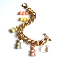 Pastel Gummy Bears Bracelet Limited Edition by FatallyFeminine, $40.00