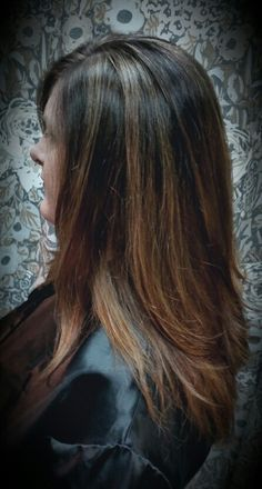 A babylights and balayage combination by Shana Montgomery owner of Fringe Theory Salon.