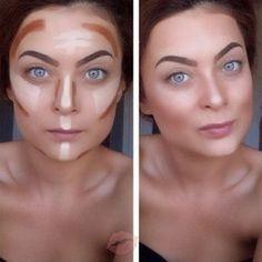 16 ideas for diy beauty hacks nails makeup Face Contouring, Contour Makeup, Contouring And Highlighting, Makeup Eyeshadow, Hair Makeup, Makeup Tips, Contour Face, Makeup Tutorials, Makeup Ideas