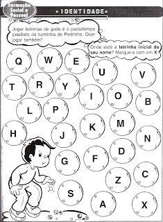 Educação Solidária: Identidade - Letra Inicial do Nome