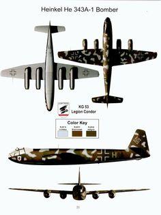 Heinkel He 343, art by Daniele Sabatini
