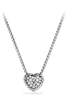 David Yurman 'Chatelaine' Heart Pendant Necklace with Diamonds available at #Nordstrom