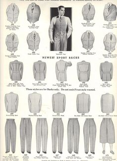 Fall 1934 to Winter 1935 Style Book of Windsor Clothing company