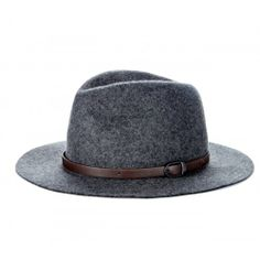 Wool Panama Hat  - Charcoal