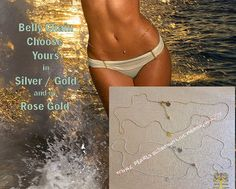 Sexy belly body waist bikini chain Gold / silver /Rose gold  charm beach body jewelr 14kt tone lead free . on Etsy, $35.00