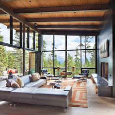 The Elk Highlands #Residence by Stillwater Architecture Location: Whitefish, #Montana, #USA  #architecture #luxury #interiordesign #caandesign #modern #home