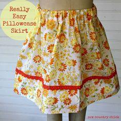Pillowcase skirt tutorial sew country chick