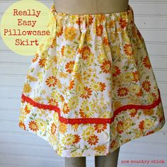 Pillowcase skirt tutorial sew country chick