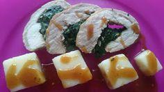 Czary w kuchni- prosto, smacznie, spektakularnie.: Schab faszerowany szpinakiem z kwadratowymi klusec... Sushi, Ethnic Recipes, Food, Essen, Meals, Yemek, Eten, Sushi Rolls