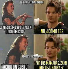 Read from the story Memes de One Direction by (𝖒𝖚𝖘𝖊) with 944 reads. One Direction Jokes, I Love One Direction, Canciones One Direction, Fifth Harmony Camren, Stranger Things Netflix, Treat People With Kindness, Larry Stylinson, Best Memes, Cool Bands