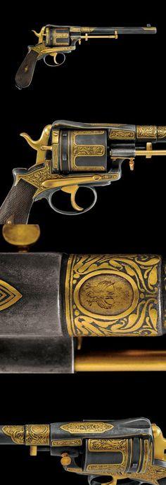 A fine Gasser revolver, Austria, last quarter 19th century.