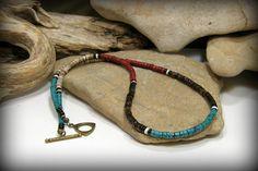 Mens collier collier Tribal collier Turquoise par StoneWearDesigns
