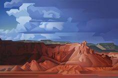 Storm Approaching, Ghost Ranch 24x36 inches, oil on canvas by David Jonason