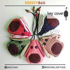 BreezyBag-key-cover-Aanimal-5 Key Pouch, Key Covers, Handicraft, Sewing Projects, Coin Purse, Quilts, Christmas Ornaments, Holiday Decor, Fabric
