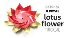 Origami 8 Petal Modular Lotus Flower  DIY  Paper Kawaii #origami #paperkawaii