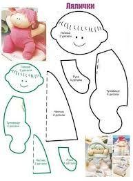 Resultado de imagen para moldes de muñecas de trapo