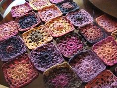 variegated yarn granny square blanket - Google Search