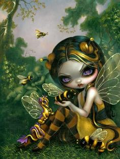 BumbleBee Dragonling by  Jasmine Becket-Griffith