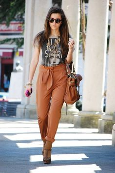 Boiler (by Alexandra Per) http://lookbook.nu/look/1704753-Blanco-Tshirt-Pants-Sfera-Sandals-Zara-Bag-Persol