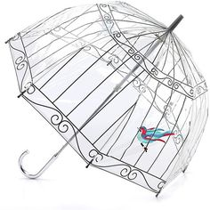 Lulu Guinness Birdcage Birdcage PVC Dome Umbrella ($30) ❤ liked on Polyvore featuring accessories, umbrellas, umbrella, extra, other, pvc umbrella, dome umbrella, print umbrella, dome shaped umbrella and lulu guinness umbrella
