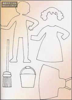 Muñecos de fieltro con patrones :lodijoella