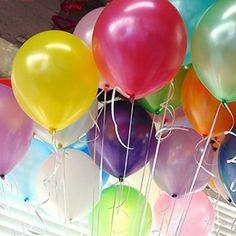 10pcs10 pollici blu palloncino in lattice gonfiabile aria balls decorazione della festa nuziale festa di compleanno palloncini galleggiante toys bambini