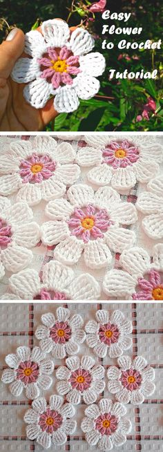 Easy Crochet Flower Tutorial – Design Peak Crochet Lace Star Flower Crochet Stitch in English…Easy Flower Free Crochet Pattern & TutorialEasy Crochet Flower You Need To Make Crochet Puff Flower, Crochet Flower Tutorial, Crochet Flower Patterns, Crochet Flowers, Knitting Patterns, Crochet Leaves, Crochet Designs, Crochet Motifs, Crochet Squares