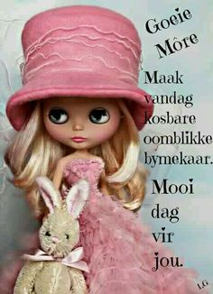 """""""May your bunny's be fluffy & your day be pink! Little Doll, Little Girls, Lindsay Taylor, Goeie More, Kawaii, Pink Hat, Hello Dolly, Collector Dolls, Cute Dolls"""