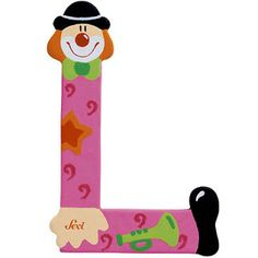 SGBlogosfera. María José Argüeso: CONTORSIONISTA Baby Letters, Letters And Numbers, Yarn Covered Letters, Clown Party, Send In The Clowns, Letter L, Clowning Around, Printable Banner, Circus Theme