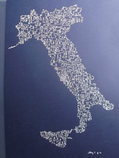 Italy I  2012 Original ink drawing by AbstractCartography on Etsy, $120.00
